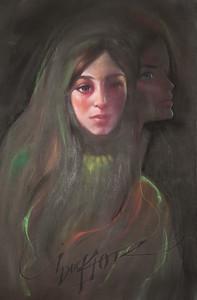 Irv Docktor pastel portrait-7