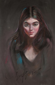 Irv Docktor pastel portrait-6