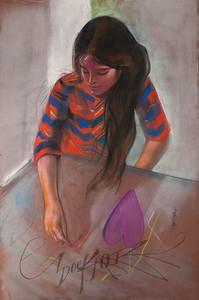Irv Docktor pastel portrait-10