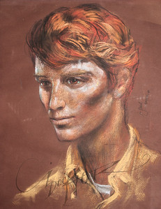 Irv Docktor pastel portrait of Paul-1