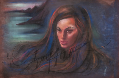 Irv Docktor pastel portrait-11