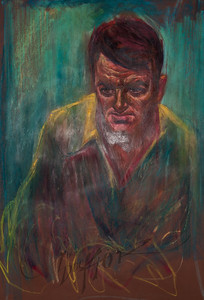 Irv Docktor pastel portrait-14