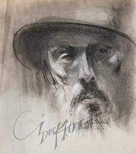 Irv Docktor pastel portrait-30
