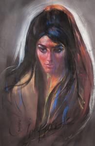 Irv Docktor pastel portrait-13