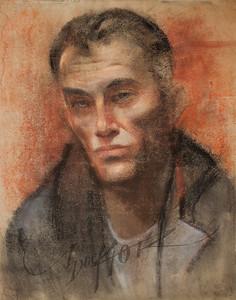 Irv Docktor pastel portrait-21