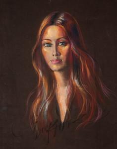 Irv Docktor pastel portrait-19