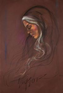 Irv Docktor pastel portrait-5