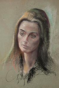 Irv Docktor pastel portrait-22