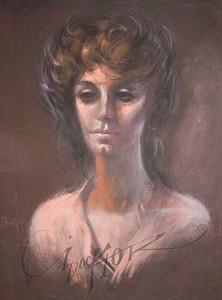 Irv Docktor pastel portrait-26