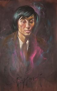 Irv Docktor pastel portrait-8