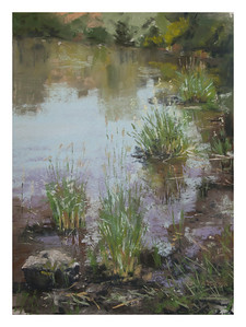 "Creek grasses 9"" x 12"""