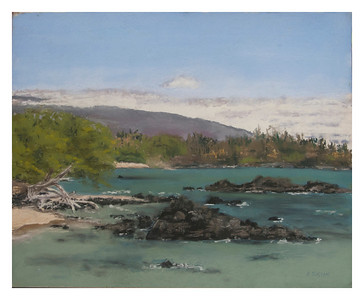 "Waialea Bay, Hawaii. 11"" x 14""  SOLD"