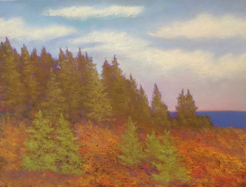 The Fortunate Island#3 9 x 12 Pastel