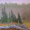 Fog on the Island#2 9 x 12 Pastel