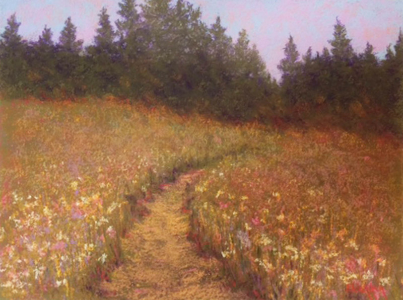 Field of Flowers  9 x 12 Pastel