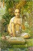Shrila Vishvanatha Chakravarti on the Banks of the Shyama Kunda writing Gita commentary