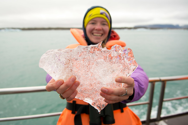 Pay the money for the boat tour and you get to hold, and taste, a piece of Iceland.