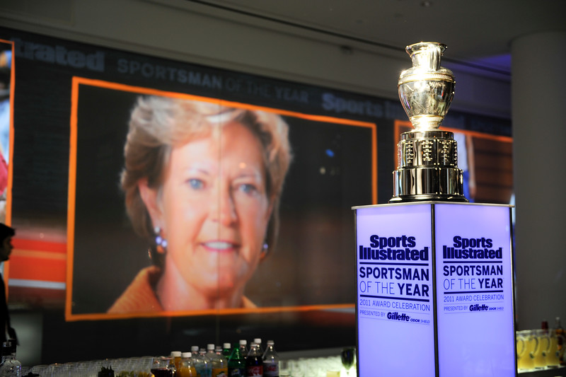 PAT SUMMITT: SI'S SPORTSWOMAN OF THE YEAR, NEW YORK CITY, DEC. 6, 2011<br /> photo by Patrick Murphy-Racey/UTADPHOTO