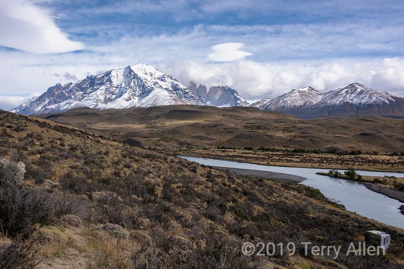 Rio Paine, Almirante Nieto, d'Agostini, Central, Monzino, Modp de cpmdpres  Cerro Paine, from Amarga, Patagonia