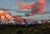 Cerro Almirante Nieto and  Torres del Paine at sunrise, Torres del Paine National Park, Patagonia