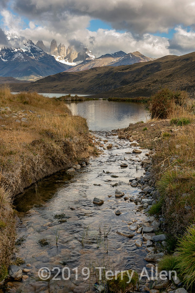 Autumn scenery in Torres del Paine