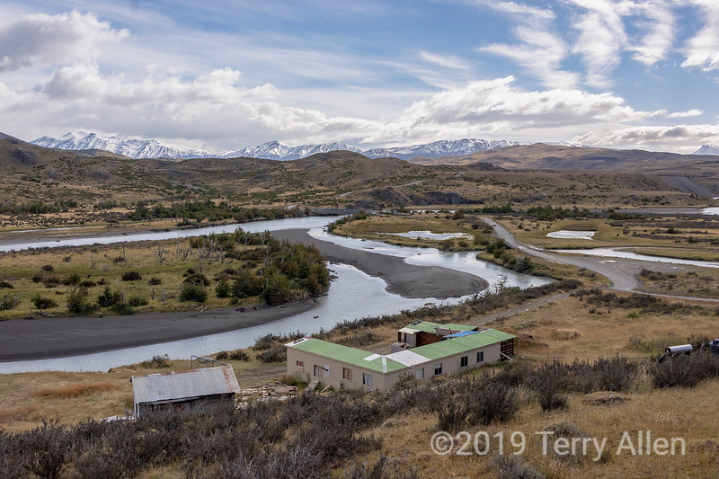Rio Paine and Punte Laguna Amarga from Guarderia Laguna Amarga, Patagonia