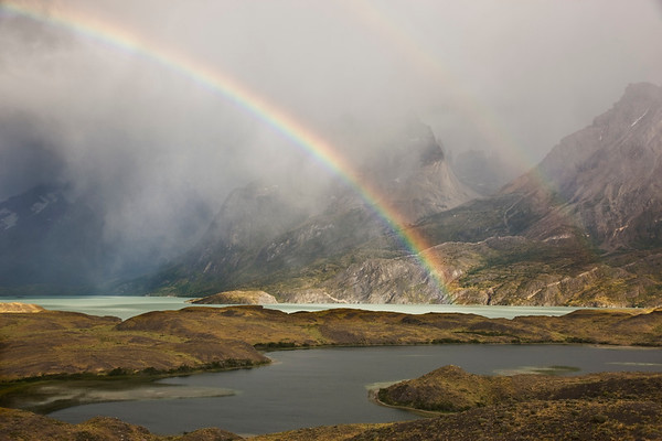 Rainbow at Torres del Paine NP