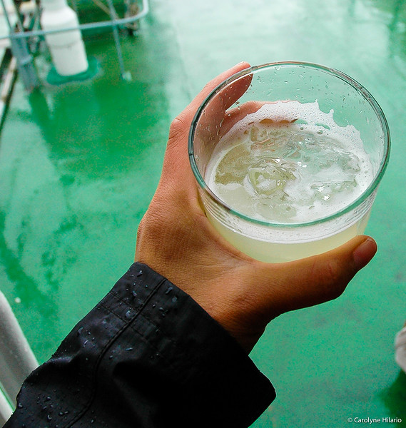 Pisco Sour with +Million-Year Old Ice <br /> from the Icebergs of Grey Glacier<br /> Chilean Patagonia