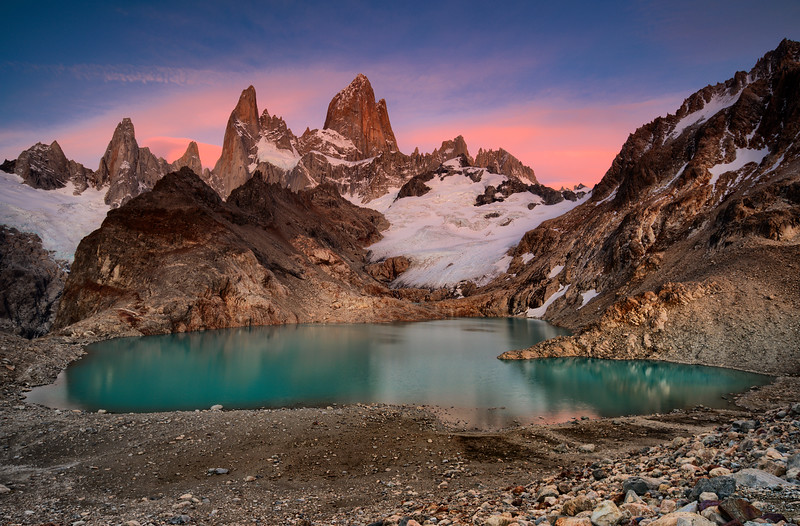 View on the Fitz Roy from Laguna de Los Tres