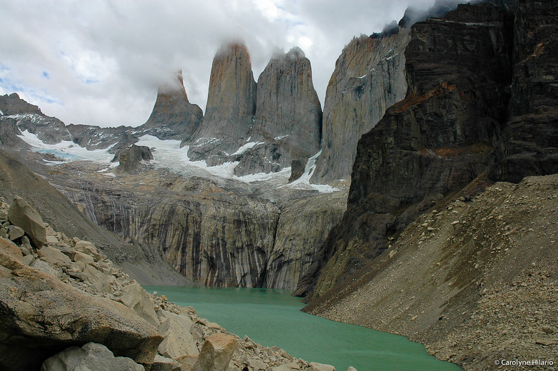 The Three Towers<br /> Torres del Paine National Park<br /> Chilean Patagonia