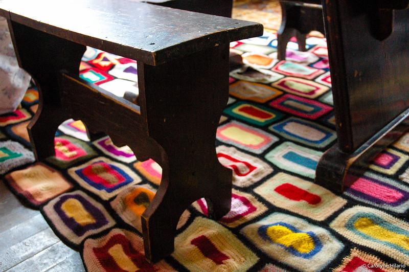 Crochet Rug<br /> Estancia Mata Grande<br /> Tierra del Fuego, Chilean Patagonia