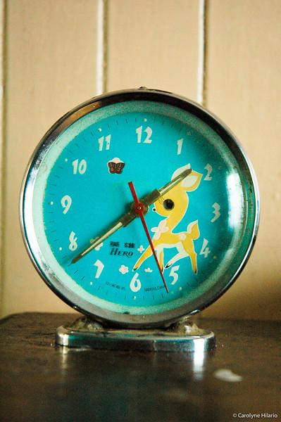 Retro Clock<br /> Estancia Mata Grande<br /> Tierra del Fuego, Chilean Patagonia
