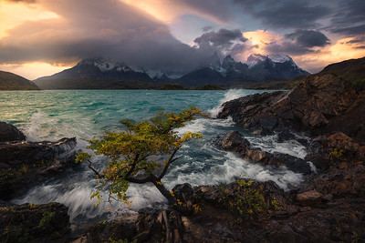 Patagonia's winds turn lakes into oceans - Torres Del Paine, Chile