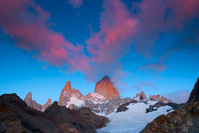 Filtered Light on Mount Fitz Roy – Los Glaciares National Park, Patagonia, Argentina