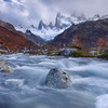 Water stream in Patagonia