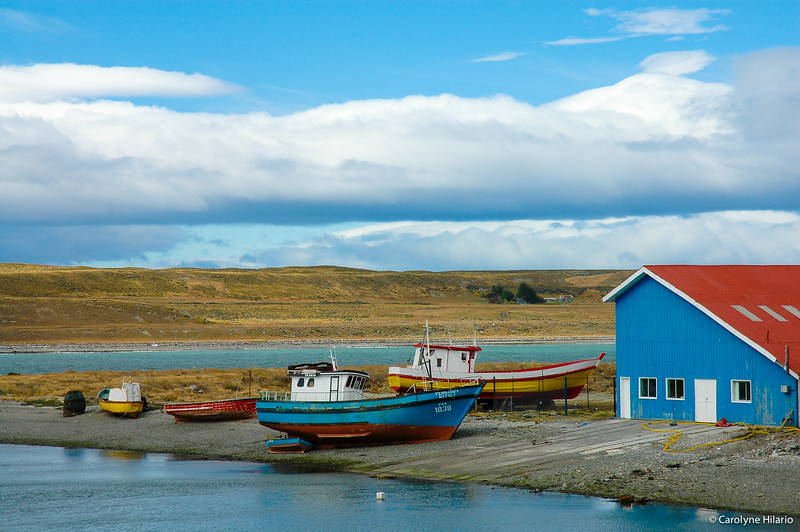 "Boats at Rest<br /> Porvenir (""hereafter""-- or literally ""yet to come"") <br /> Tierra del Fuego, Chilean Patagonia"