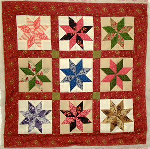 """Tiny 8 Pointed Star 18"""" square"""