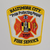 Baltimore City Fire Service Patch