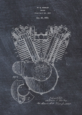 Harley Engine 1923