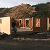 Exterior wall panels in place on 4 bedroom house near Okanogan