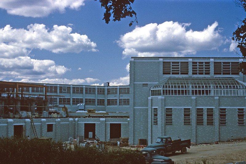 John F. Kennedy High School under construction in August of 1964.