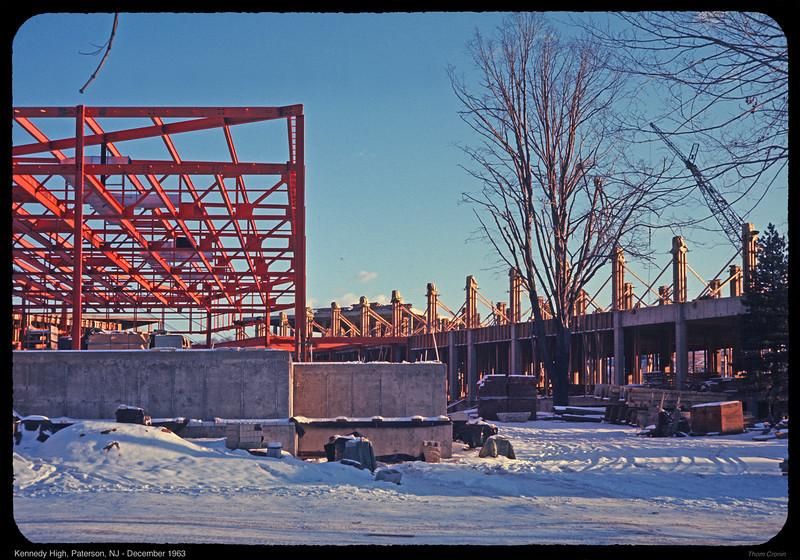 John F. Kennedy High School under construction in December 1963.