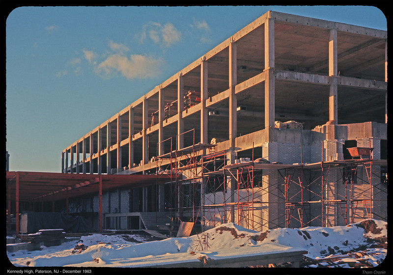 John F. Kennedy High School under construction in December 1963.