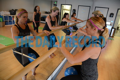 3.1.17 BALTIMORE, MD- Women working out in the barre class at Core Cycle Studios in Timonium.  (The Daily Record/ Maximilian Franz)
