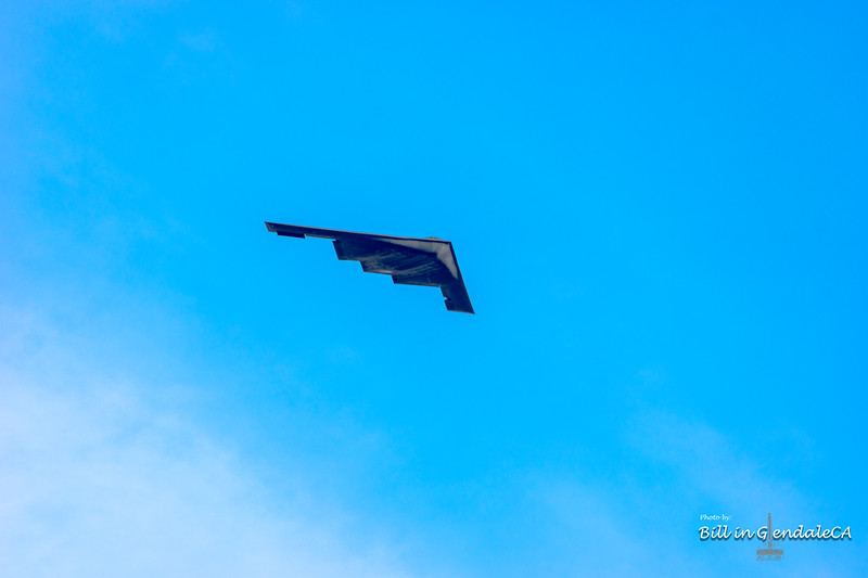 B-2 Bomber making it's turn east.