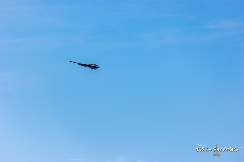 B-2 approaching the Rose Bowl