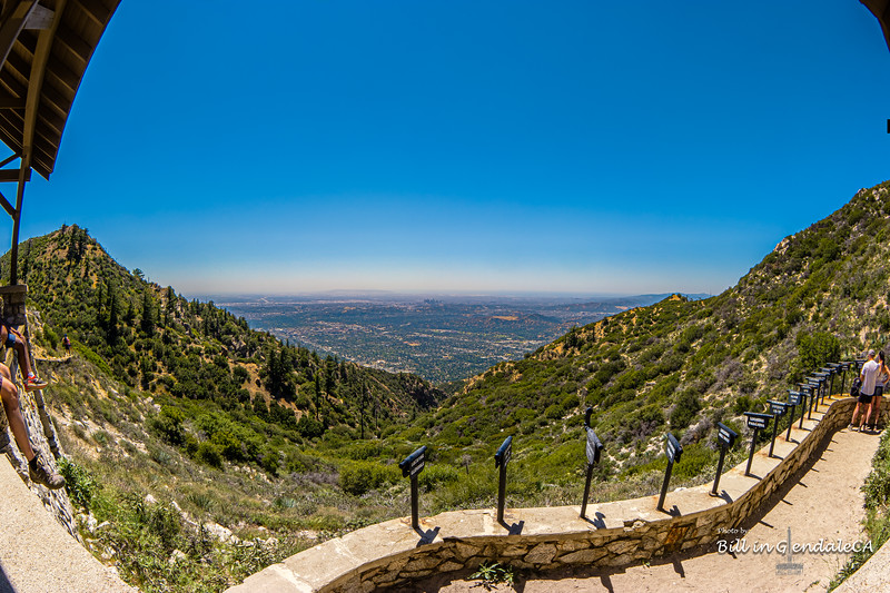 LA Basin from Inspiration Point(fisheye)