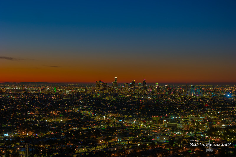 Downtown LA Twilight.