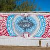 Mural on trailer.