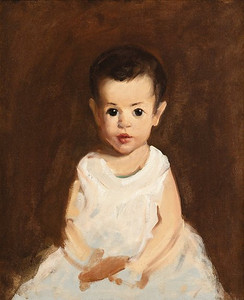 Patrick Henry Bruce oil of Hugh McCulloch about 2 years.  Son of Dr. Charles McCulloch & Rosa McCulloch